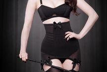 Permanent collection / These are our most popular products, which (in theory!) we always have in stock. Longline and roll-on girdles, 6 strap suspender belts and more, for that vintage, femme fatale look!