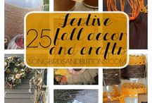 Fall Decor / Everything you need for fall. Crafts, decorating tips and DIY's.