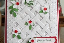 Embossed Cards / Embossing can add a touch of elegance in a moment - run a simple piece of waste card through your embossing machine or hand emboss with a stencil and voila, instant elegance.  Love it.