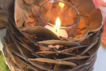 Pine cone holder / Candle lite