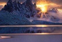 2 Snow Scene (& Mt.)
