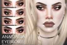 ts4- skin/eyes/nails/eyeshadows/eyelashes