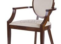 Chairs / Upholstered chair, wooden,  manufactured in Poland