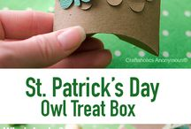 St. Patrick's Day Owl Treat Box