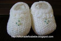 sapatinhos de bebe em trico