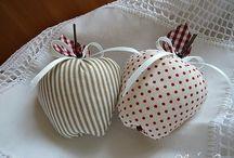 maçãs de tecidos
