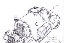 vehicles, mechs (concepts, sketches etc)