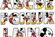 ABC DISNEY / Abecedario de Personajes de Disney