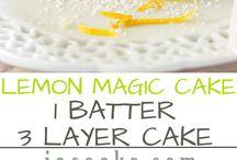 Magic lemon layer cake