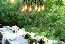 A Garden Wedding / Wedding planning inspiration and moodboard images for garden and floral inspired weddings