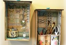 inspirace nejen box / inspiration not only for boxing, decoupage, vintage, chabby
