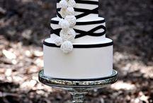 wedding cake. Black