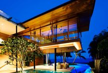Inside out / Architecture, home design, pools, glass walls