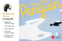 Free Download Blog & Portfolio CMS: Penguin by Shaun Dona on Creative Market