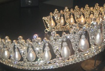 Tiaras - Pearls I / Diamond and pearl tiaras   / by Starry Diadem