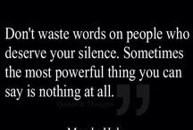 Silence or speak ur piece...