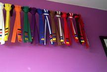 Taekwando belt display