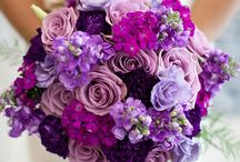 purples wedding bouquet