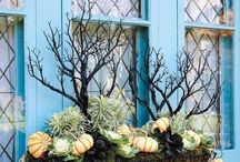 Fall garden diy decoration