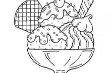 sweets/food coloring sheets