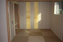 施工写真 和室 / 和室も畳やクロスの色で雰囲気が全く変わります