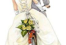 decoupage transfer ślub
