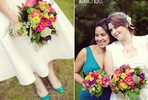 Bridal Bouquets - Colorful / Bouquets, just for the bride, in all colors and sizes.