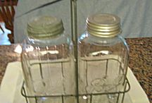 Vintage Jars & Bottles / Remember mom's fruit cellar? If you are under 45 you probably don't, but for us older ladies, this category will bring back some memories, hopefully, good ones! / by More Than McCoy
