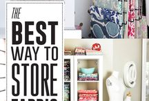 Quilt Organizing / The best ways to store all your fabrics, organize your tools, stay tidy and more!