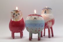 Ceramics candlelight