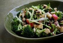 veggie and pasta salads