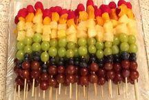Mesas de frutas y botana