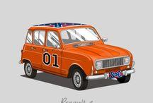 Illustration - Autos und Oldtimer