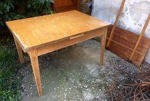 40's Art Deco table restoration