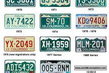 Colorado License Plates / by Steve Garufi