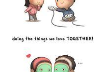 """Illustrazioni di Andrew Hou, """"Love is..."""""""