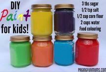 Teaching recipes / Recipes for paint play dough etc