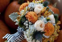 Осенняя свадьба в голубых тонах