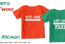 Twins / Twin themed t-shirts and gift ideas from Ricaso