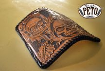 Leatherworks / Cutting, dying, stitching, tooling all kinds of cool leather stuff.
