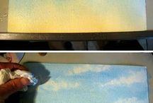 Maľovanie - oblaky