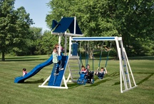 Mountain Climber Playsets / Let the fun begin with a Mountain Climber set from Swing Kingdom! Whether they want to swing, climb or slide, each set can be customized to build the perfect swingset for your kids.