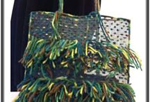 Transparent Handbags / Sieve bags sewn and decorated by hand. Unique pieces.