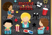 Mygrafico Movie Night Party Ideas, cliparts and Printables / by Mygrafico Digitals