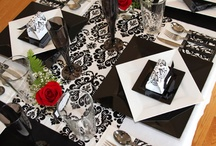 Table Decorating in Black and White
