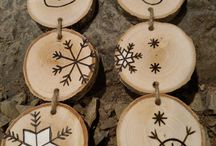 wooden tree decorations