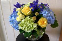 Floral: cool blues, lavenders, purples