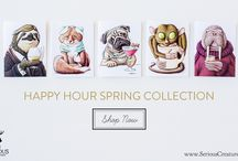 Happy Hour {Spring 2016 Collection} / Our Happy Hour greeting cards can be used for anything and everything...to wish your spouse a happy birthday, to cheer up a friend, or to send a word of thanks. The possibilities are endless so just use your imagination!