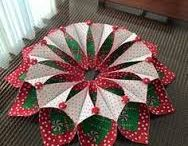 Fold and stitch Christmas wreath