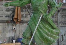 General Tran Hung Dao Custom Bronze 8 foot tall / Custom 8ft tall Bronze General Tran Hung Dao for Mile Square Park in Orange County California.